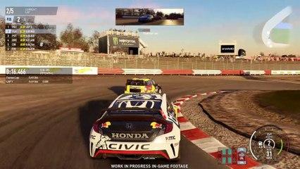 E3 2017, Honda Civic GRC, Loheac, Chase view de Project Cars 2