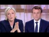 "#debat2017 Marine Le Pen : ""La France sera dirigée par une femme moi ou madame Merkel"""