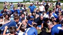 Rugby : la joie des joueurs et supporters du Gan Olympique