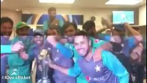 Pakistan dressing Room celebration after Winning Champions Trophy 2017 Final