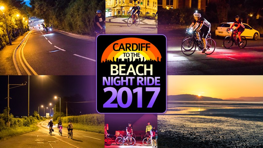 Cardiff to the Beach Night Ride 2017