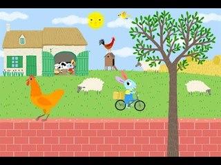 Une poule sur un mur - Chansons et comptines avec Pinpin et Lili