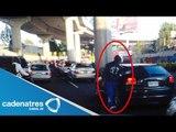 Video de los asaltos en Periférico / Socavón provoca ola de asaltos en periférico (VIDEO)