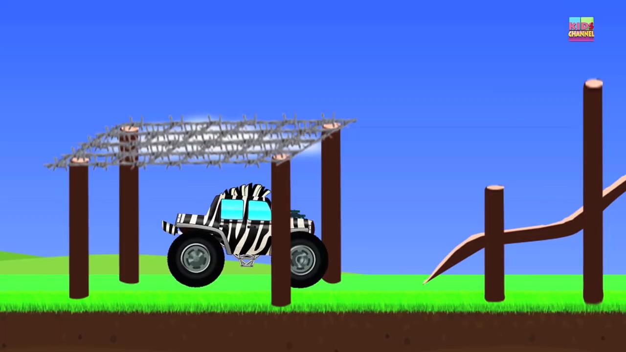 Monster Trucks _ Zebra Trucks _ Car A