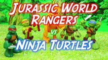 Jurassic World Dino Tror Captures a Raptor Dinosaur and the Teenage Mutant Ninja Turtle