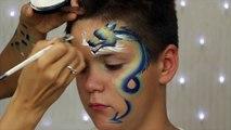 Visage peinture pour enfants facile réaliste serpent un accident vasculaire cérébral visage peinture tutoriel