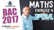Bac ES/L 2017 : corrigé des Maths (Exercice 4)