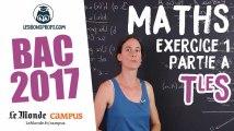 Bac S 2017 : corrigé des Maths (Exercice 1 - partie A)