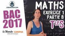 Bac S 2017 : corrigé de Maths (Exercice 1 - partie B)
