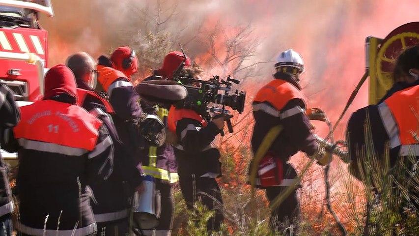 """Making of """"Les hommes du feu"""" dans les flammes"""