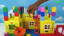Peppa Pig Blocks Mega House LEGO Creations Sets With Masha And The Bear Legos Toys For Kid