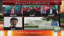 Journalist Ahmad Noorani asking Fawad Chaudhry question about non-Declaration of assets of his 2nd wife Hiba Khan