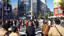 Cruzando vivir lucha cámara] Shibuya, Shibuya intersección de vídeo en directo