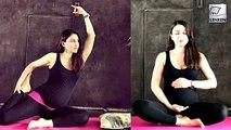 Pregnant Soha Ali Khan's CUTE YOGA EXERCISE On International Yoga Day