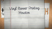 Vinyl Banner Printing Houston - Sign-Ups and Banners