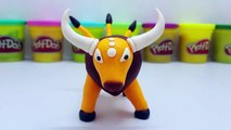 How To Make Pokemon Tauros from Pokemon Go out of Play Doh �