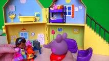 Cerdo para Peppa Pig engañado Dr. peluche trata a los dibujos animados peppa de los niños juguetes nuevos