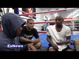 Floyd Mayweather Demar Derozan and ricky funez after a long day at gym EsNews Boxing