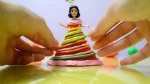 Snow White Princess Play Doh Rainbow Dress - Ninatsa Play Doh 2016-9