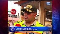 Cámaras de seguridad registran robo en restaurante