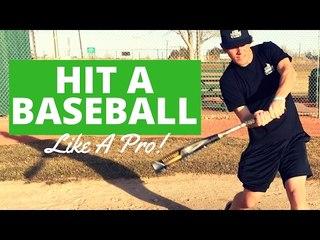 How To Hit A Baseball Like A Pro! - Baseball Hitting Tips