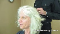 MAKEOVER! Pretty Gray Wavy Hair by Christopher Hopkins, The Makeover Guy®