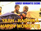 Lovely Romantic Scene - Yash Lifts Radhika After Engagement & Wishing Fans