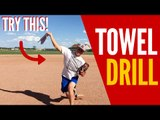 Baseball Pitching Towel Drill! (THROW GAS!!)