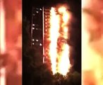 [HORRID FOOTAGE] As HUGE Fire Engulfs 27 storey West London Tower Block!!!