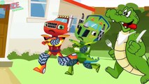 BLAZE CAR MONSTER MACHINES Crocodile Attack When Cool Bath In The Outdoor! Blaze Monster T