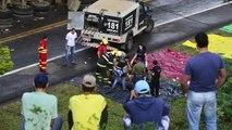Caos na BR 101- Grave acidente deixa dezenas de motos