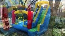 Videur gonflable Château amusement amusement géant gonflable petit de plein air jouer examen faire glisser activités Tikes