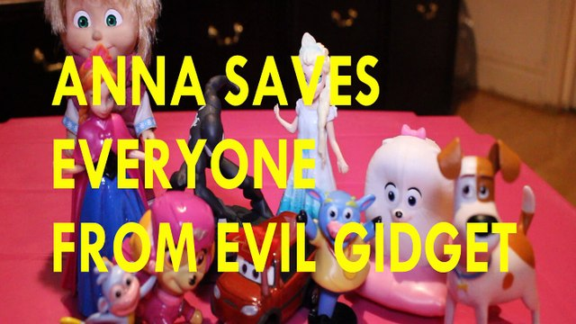 ANNA SAVES EVERYONE FROM EVIL GIDGET + MASHA BOOTS SKYE CARS 3 BENNY MAX ELSA SPIDERMAN Toys Video