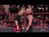 Brock Lesnar returns And Samoa Joe Attack Brock Lesnar - WWE Raw 12 June 2017