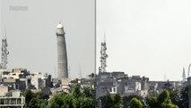 Irak: les ruines du minaret penché filmées