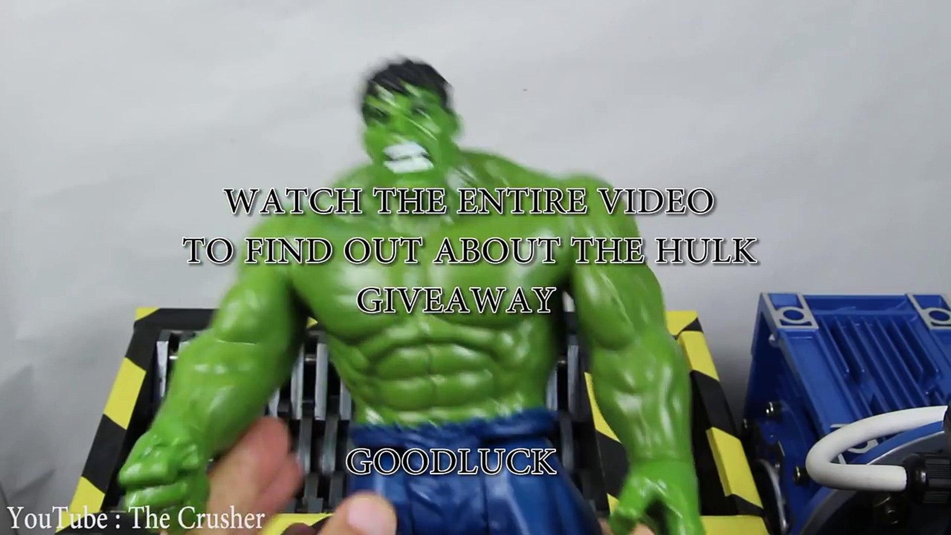 Experiment Shredding Avengers HULK And Toys | The Crusher