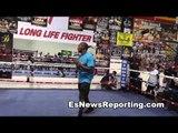 erislandy lara vs canelo alvarez - lara in camp EsNews
