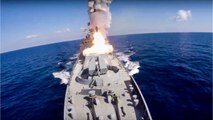 Russian Warships Fire Missiles At ISIS In Syria