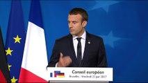 """Macron à Bruxelles : """"Quand l'Allemagne et la France parlent de la même voix, l'Europe peut avancer"""""""