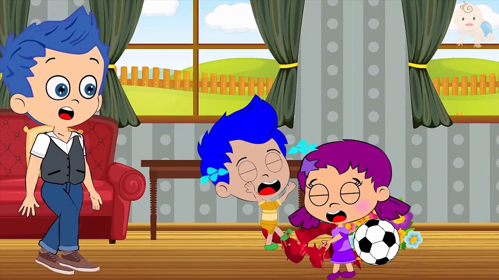 BUBBLE GUPPIES Nonny Wicked Treachery MOLLY Died By Accident! Nursery  Rhymes Cartoon For K