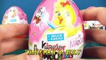 Kinder Überraschungsei MAXI für Mädchen und Kinder JOY Frühlingsprodukte werden ausgepackt