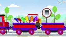 Dibujos animados educativos. Trenes infantiles - Episodios completos de 1 hora. Carritos 2017