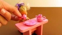 Duende cocina Magdalena muñeca frito de cocina miniatura jugar Patatas conjunto Kelly barbie doh
