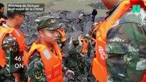Les images après un énorme glissement de terrain en Chine qui a enseveli 141 personnes et fait au moins 5 morts