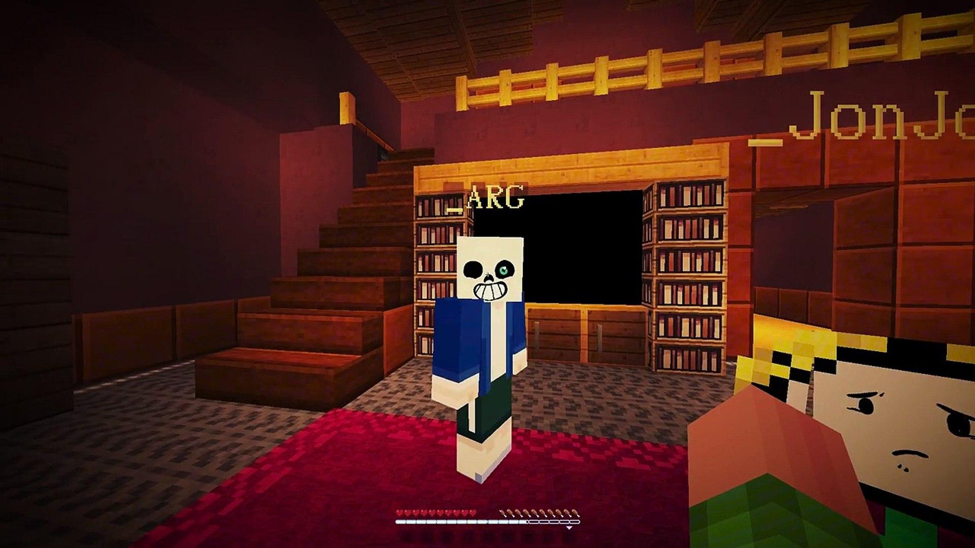 SANS Vs. GASTER! Minecraft GLITCHTALE! UNDERTALE AU (Minecraft Undertale Roleplay)