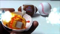Américain balle base-ball des œufs pour enfants ouvrir Football Football des sports 4 surprise