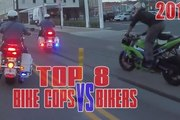 TOP 8 Bike Cops VS Bikers POLICE CHASE Compilation Cop CHASE Motorcycles Running From The Cops
