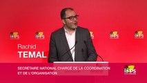 """Conférence de presse de Rachid Temal suite au conseil national """"Nous sommes clairement dans l'opposition et nous ne voterons pas la confiance au gouvernement"""""""