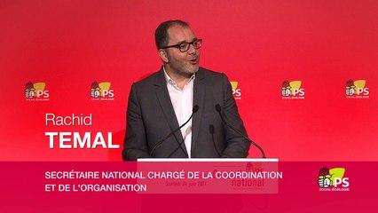 Conférence de presse de Rachid Temal suite au conseil national