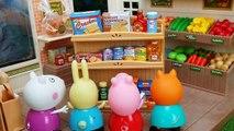 Peppa Pig y George hacen la Compra del Supermercado - Vídeos de Juguetes Peppa Pig en Esp